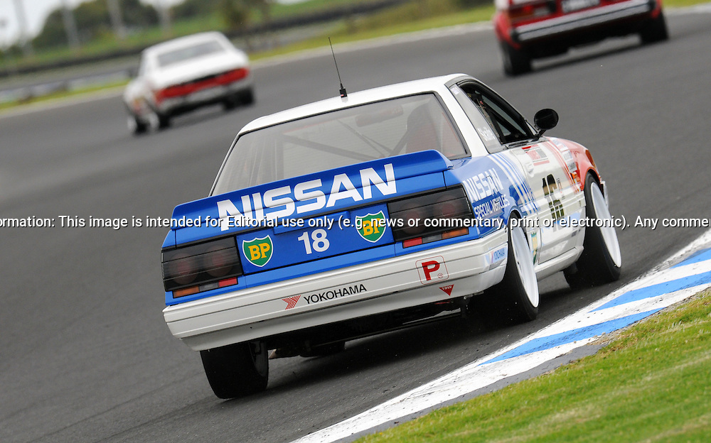 Carey McMahon - Group A - Nissan Skyline HR31 GTS-R.Historic Motorsport Racing - Phillip Island Classic.18th March 2011.Phillip Island Racetrack, Phillip Island, Victoria.(C) Joel Strickland Photographics.Use information: This image is intended for Editorial use only (e.g. news or commentary, print or electronic). Any commercial or promotional use requires additional clearance.