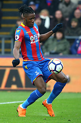 March 31, 2018 - London, Greater London, United Kingdom - Crystal Palace's Wilfried Zaha.during the Premiership League  match between Crystal Palace and Liverpool at Wembley, London, England on 31 March 2018. (Credit Image: © Kieran Galvin/NurPhoto via ZUMA Press)