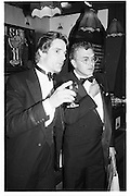 Michael White and Jeremy Irons, pirates party, Lyceum 26.05.82© Copyright Photograph by Dafydd Jones 66 Stockwell Park Rd. London SW9 0DA Tel 020 7733 0108 www.dafjones.com