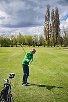 GOUDA - GOLFBAAN IJSSELWEIDE , kennismaken met golf tijdens Open Golfdag, met oa midgetgolf opCOPYRIGHT KOEN SUYK
