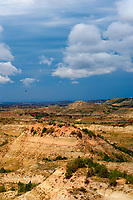 Painted Canyon Panorama. Theodore Roosevelt National Park. Image taken with a Nikon D3 and 85 mm f/2.8 PC-E lens (ISO 200, 85 mm, f/16, 1/40 sec). 6 of 9 images combined with AutoPano Giga and Dehaze Filter.