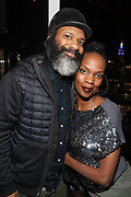 New York, NY-December 20: (L-R) Producer/Curator D' Prosper and Recording Artist Renee Neuville attend the Ascension Party-A Holiday Affair curated by D'Prosper and held at the Top of the Standard on December 20, 2017 in New York City.  (Terrence Jennings/terrencejennings.com)