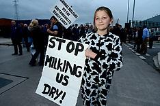 Farmers  Milk Protest in Leeds