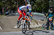 #74 (ADMAKINA Svetlana) RUS during round 3 of the 2017 UCI BMX  Supercross World Cup in Zolder, Belgium,