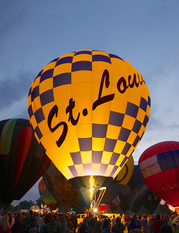 Forest Park Balloon Glow on September 14, 2012.