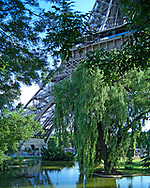 Eiffel Tower Gardens (portrait), this image shows the famous gardens and parks around the centre of Paris, there are many green areas in the city centre but with this park being next to the iconic tower we have the advantage of being able to use subtle elements of the monumnet so we know we are in Paris, France