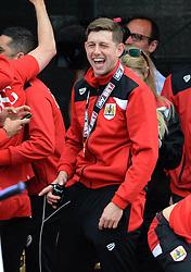 Bristol City Goalkeeper, Frank Fielding celebrates during the celebration tour - Photo mandatory by-line: Dougie Allward/JMP - Mobile: 07966 386802 - 04/05/2015 - SPORT - Football - Bristol -  - Bristol City Celebration Tour