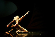 """Dancers from the YADA Dance Company, Malta's largest contemporary dance company, perform during the final dress rehearsal of their show """"Circle of Senses""""  at the Mediterranean Conference Centre in Valletta, late February 15, 2007.  .MALTA OUT.REUTERS/Darrin Zammit Lupi (MALTA)"""