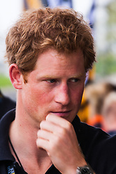 Queen Elizabeth Olympic Park, London. September 13th 2014. Prince Harry at the Velodrome as wounded servicemen and women from 13 different countries compete for sporting glory during the cycling competition at the Invictus Games.