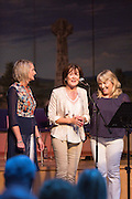 Edel Vaughan, Denise Whelan and Ann Droney Kinnane performing at the Fleadh 2016 Fáiltiú at Cois na hAbhanna, Ennis. Photograph by Eamnon Ward