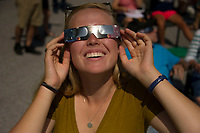 Partial Solar Eclipse viewing party at Gilford Public Library.  ©2017 Karen Bobotas Photographer