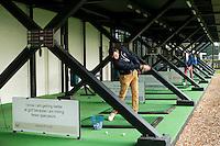 NOORDWIJK - Driving range. Golfpro Michael John de Moor . Golfcentrum Noordwijk. COPYRIGHT KOEN SUYK