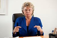 17 SEP 2010, BERLIN/GERMANY:<br /> Viviane Reding, EU-Kommissarin fuer Justiz, Grundrechte und Buergerschaft, waehrend einem Interview, Vertretung der Europaeischen Kommision in Berlin<br /> IMAGE: 20100917-01-028