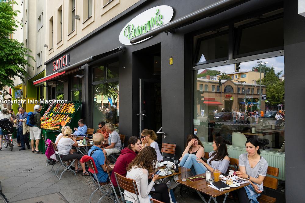 Barcomi's cafe on Bergmannstrasse in Kreuzberg Berlin Germany