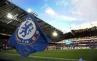 Football - 2018 / 2019 Premier League - Chelsea vs. Everton<br /> <br /> The Chelsea flag waves before the Minutes silence on Remembrance  day for the anniversary of the ending of the first World War, at Stamford Bridge.<br /> <br /> COLORSPORT/ANDREW COWIE