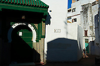 Maroc, Tanger, mosquee dans la Medina  // Morocco, Tangier (Tanger), mosque on the old city, Medina