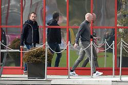 17.03.2015, Saebener Strasse, Muenchen, GER, 1. FBL, FC Bayern Muenchen, Training, im Bild vl. DFB-Sportdirektor Hansi Flick zu Gast an der Saebener Strasse. Rechts Sportdirektor Matthias Sammer (FC Bayern Muenchen) // during a Trainingssession of German Bundesliga Club FC Bayern Munich at the Saebener Strasse in Muenchen, Germany on 2015/03/17. EXPA Pictures © 2015, PhotoCredit: EXPA/ Eibner-Pressefoto/ Vallejos<br /> <br /> *****ATTENTION - OUT of GER*****