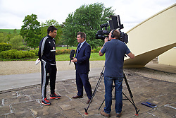 CARDIFF, WALES - Monday, May 23, 2016: Wales' Chris Coleman after a press conference to announce a contract extension at the Vale Resort Hotel. (Pic by David Rawcliffe/Propaganda)