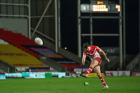 Rugby League - 2020 Betfair Super League - Semi-final - St Helens vs Catalan Dragons - TW Stadium<br /> <br /> St. Helens's Lachlan Coote converts<br /> <br /> COLORSPORT/TERRY DONNELLY