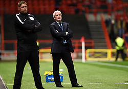 Stoke City manager Mark Hughes stands dejected during the Carabao Cup, third round match at Ashton Gate Stadium, Bristol.