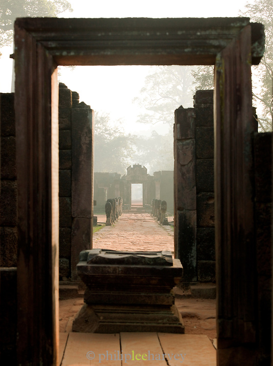 The Hindu temple of Banteay Srei in Angkor, Siem Reap Province, Cambodia