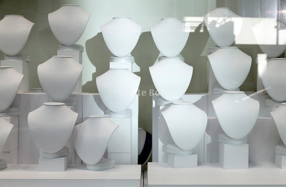 empty jewelry store window display