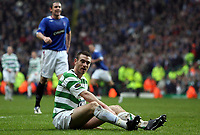 Photo: Paul Thomas.<br /> Glasgow Celtic v Glasgow Rangers. Bank of Scotland Scottish Premier League. 11/03/2007.<br /> <br /> Stephen McManus of Celtic can't believe his luck.