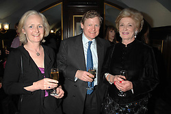 Left to right, MR & MRS GRAHAM FORTUNE and DAME MAUREEN THOMAS at a gala evening preview of Edward Albee's The Lady from Dubuque in aid of Masterclass at The Theatre Royal, Haymarket, London on 19th March 2007<br /><br />NON EXCLUSIVE - WORLD RIGHTS