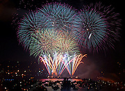 Fireworks explode over Lake Union on the Fourth of July.<br /> Erika Schultz / The Seattle Times