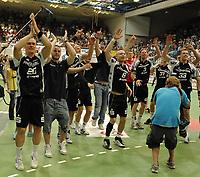Håndball<br /> Tyskland<br /> Foto: imago/Digitalsport<br /> NORWAY ONLY<br /> <br /> 05.06.2010<br /> <br /> Kiel tyske mestere i håndball med Børge Lund på laget<br /> <br /> Toyota Handball - Bundesliga - 05.06.2010 -TV Grosswallstadt - THW Kiel So jubelt der Deutsche Meister, der THW Kiel