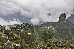 July 3, 2018 - Tongren, Tongren, China - Tongren, CHINA-Fanjing Mountain, located in Tongren, southwest China's Guizhou Province, was added to UNESCO's World Natural Heritage list at the 42nd session of the World Heritage Committee in Manama, Bahrain.Fanjing Mountain is home to an array of wildlife. Currently, 31 endangered plants and 19 threatened animals live in this protected area. China now has 53 sites inscribed on the UNESCO World Heritage list. (Credit Image: © SIPA Asia via ZUMA Wire)