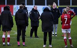 Matt Beard manager of Bristol City Women after the final whistle of the match  - Mandatory by-line: Ryan Hiscott/JMP - 30/01/2021 - FOOTBALL - Twerton Park - Bath, England - Bristol City Women v Brighton and Hove Albion Women - FA Womens Super League 1