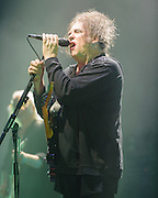 ROBERT SMITH of The Cure performs at Merriweather Post Pavilion.  The band performed 32 songs in a career-spanning set.