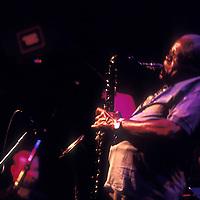 USA, Washington, Seattle, Tenor Saxophonist Stanley Turrentine performs at Jazz Alley