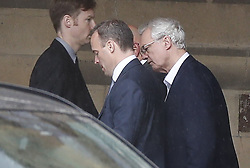 © Licensed to London News Pictures. 13/06/2019. London, UK. Dominic Raab (L) is seen in Parliament with David Davis after the first round of voting for the leadership of the Conservative Party. Photo credit: Peter Macdiarmid/LNP