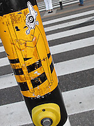 Abstracted view of street crossing in Amsterdam.