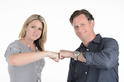 Employees photographed on a white background as part of an internal communications campaign.