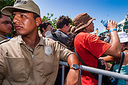 14 SEPTEMBER 2003 - CANCUN, QUINTANA ROO, MEXICO:  Tens of thousands of protesters, mostly farmers, came to Cancun for the fifth ministerial of the World Trade Organization (WTO). They were protesting against developed nations pushing to get access to agricultural markets in developing nations. The talks ultimately collapsed after no progress with no agreements reached between the participants.          PHOTO BY JACK KURTZ