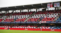 Tilskuere under finalen i Sydbank Pokalen mellem AaB og SønderjyskE den 1. juli 2020 i Blue Water Arena, Esbjerg (Foto Claus Birch).