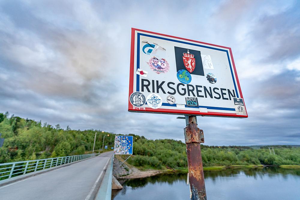Grensen mellom Norge og Finland.