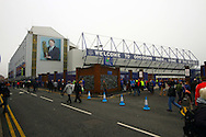 a General view outside the stadium as fans arrive ahead of the game. Barclays Premier League match, Everton v Sunderland at Goodison Park in Liverpool on Sunday 1st November 2015.<br /> pic by Chris Stading, Andrew Orchard sports photography.