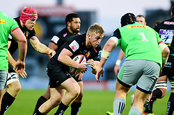 Billy Keast of Exeter Braves is marked by Mark Lambert  - Mandatory by-line: Ryan Hiscott/JMP - 01/04/2019 - RUGBY - Sandy Park Stadium - Exeter, England - Exeter Braves v Harlequins - Premiership Rugby Shield