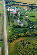 The Eugster Orchard Corn Maze near Stoughton, Wisconsin, USA.
