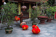 Preparations for Tet in a Chinese Temple in Haiphong