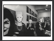 Women wearing Warhol masks. Opening of the Warhol museum. Pittsburg. 1994.. Exhibition in a Box