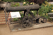 Russian cannon from Crimean war, Lewes Castle, East Sussex, England