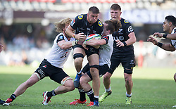 Durban. 100318. Durban. 100318. Stephan Lewies of the Cell C Sharks during the Super Rugby match between Cell C Sharks and Sunwolves at Jonsson Kings Park Stadium on March 10, 2018 in Durban, South Africa Picture Leon Lestrade/African News Agency/ ANA