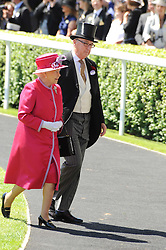HM THE QUEEN and the DUKE OF DEVONSHIRE a at the second day of the 2010 Royal Ascot Racing festival at Ascot Racecourse, Berkshire on 16th June 2010.