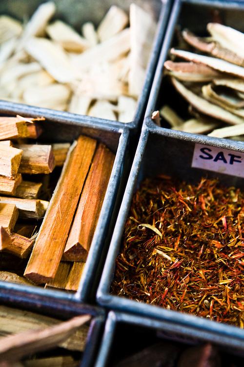 Herbs at Nguan Choon Tong traditional pharmacy, Phuket Old Town