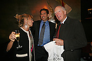 Countess Maya von Schonburg, James Rubin and Lord Rothschild, A A Gill party to celebrate the  publication of Table Talk, a collection of his reviews. Hosted by Marco Pierre White at <br />Luciano, 72 St James's Street, London,. 22 October 2007, -DO NOT ARCHIVE-© Copyright Photograph by Dafydd Jones. 248 Clapham Rd. London SW9 0PZ. Tel 0207 820 0771. www.dafjones.com.